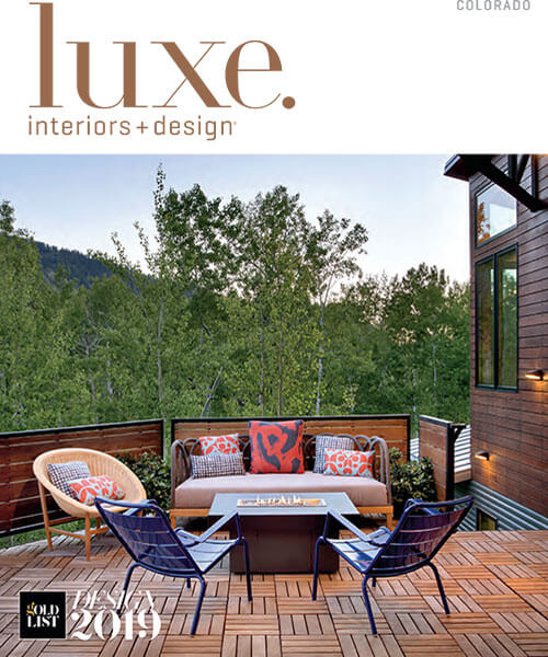 Luxe Interior Design magazine cover